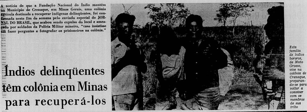 Article about the GRIN and the indigenous reformatory in the Jornal do  Brasil on August 27 0742a575f6f