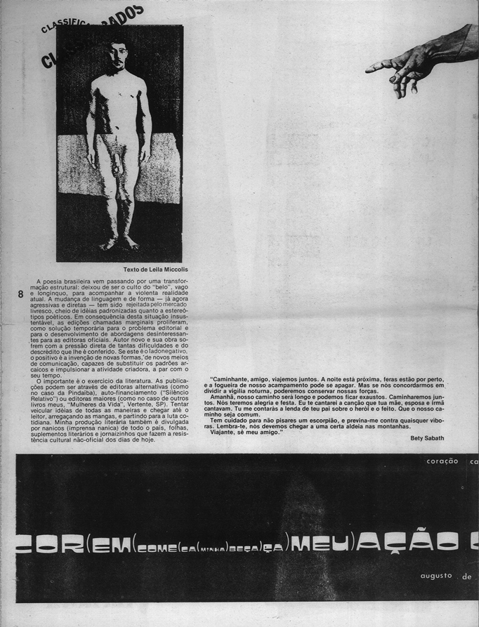 Contents of the magazine for the First Independent Brazilian Art Seminar,  1981. Source  Jorge Bassani   Francisco Zorzete Archive. Used with  permission from ... 0ab632d457