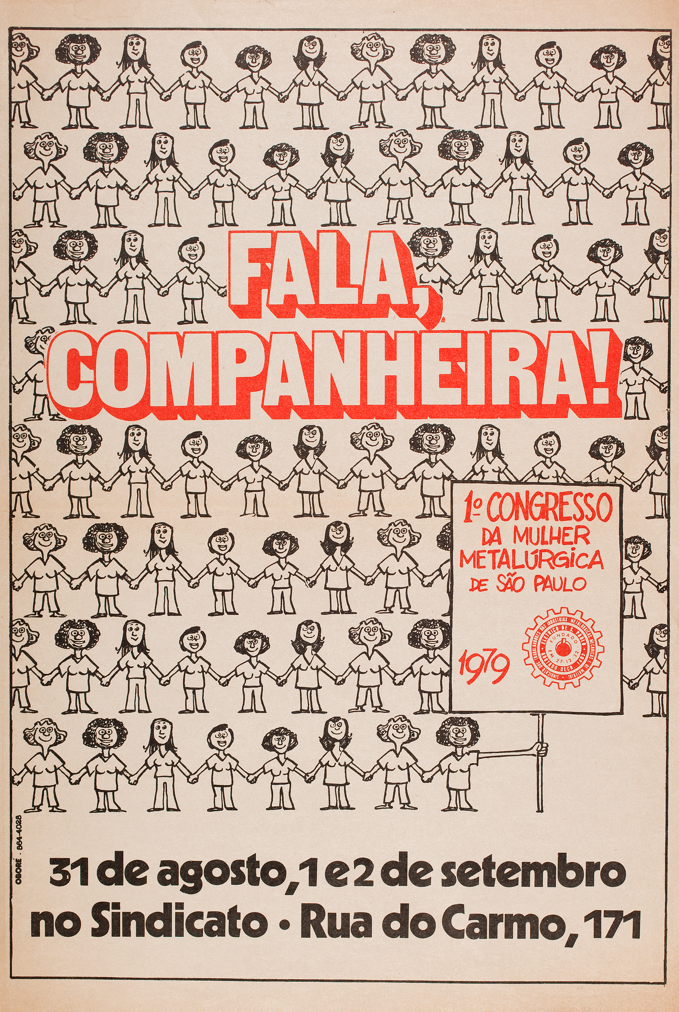 941cb04d5 Poster for the First São Paulo Women Metalworkers  Conference in 1979.